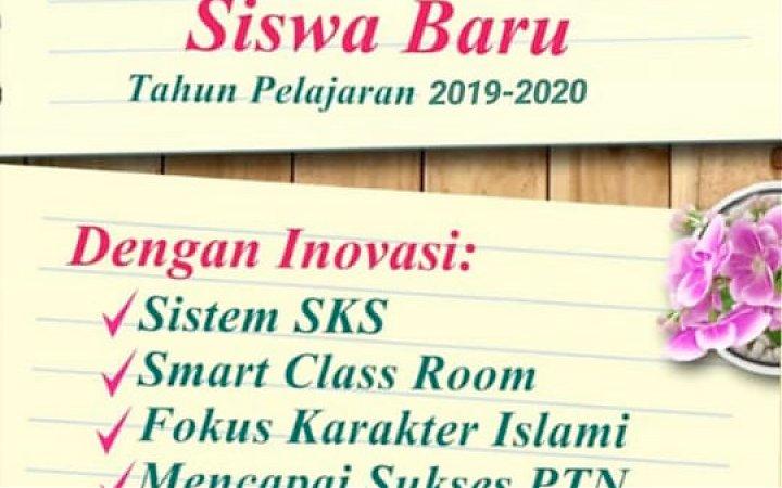 Penerimaan Siswa Baru Tahun Pelajaran 2019-2020