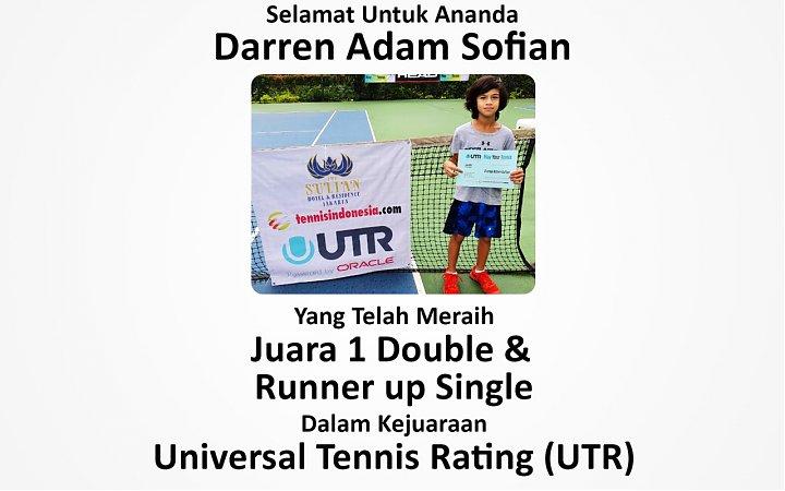 Darren Adam Sofian, Siswa SD Islam Alazka Juara 1 Kejuaraan Tennis